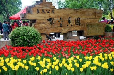 原创:七律·赞长春公园 (新韵、插图) ——步韵春晓博友 - 芳  草  美  人 - 芳 草 美 人