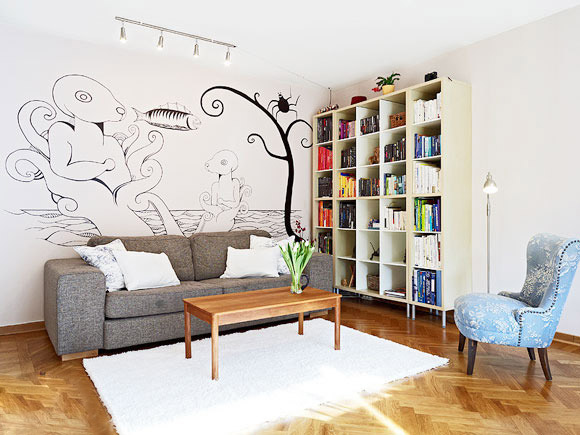 墙面彩绘图片