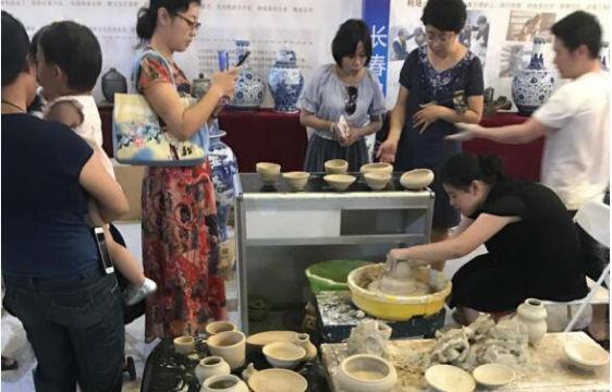 民博会体验China瓷器制作