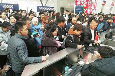 春节假期长春站共发送旅客64.3万人,同比增加8万人次