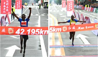 2018长春国际马拉松赛全马男子、女子冠军出炉!