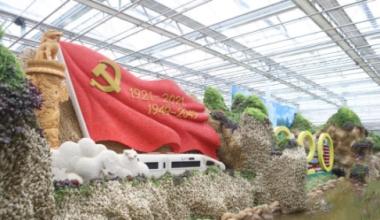 【农博园探营】用20多吨姜 一吨多豆打造祖国壮美河山