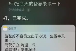 中国文字如此强大!Siri你该好好补课了!