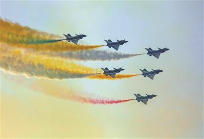 空军八一飞行表演队举行航空开放日活动