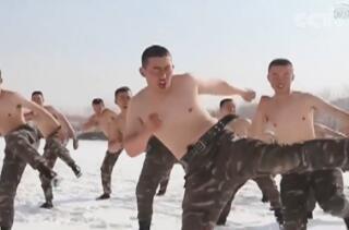 新疆:-20℃!特战队员赤膊上阵 极限训练
