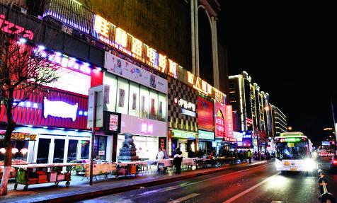 长春市桂林路商圈:迷人夜景成网红