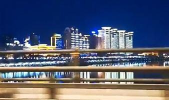 吉林市江边夜景