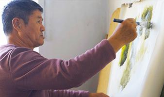 农民刀画师温占均:我的画就是我要说的话
