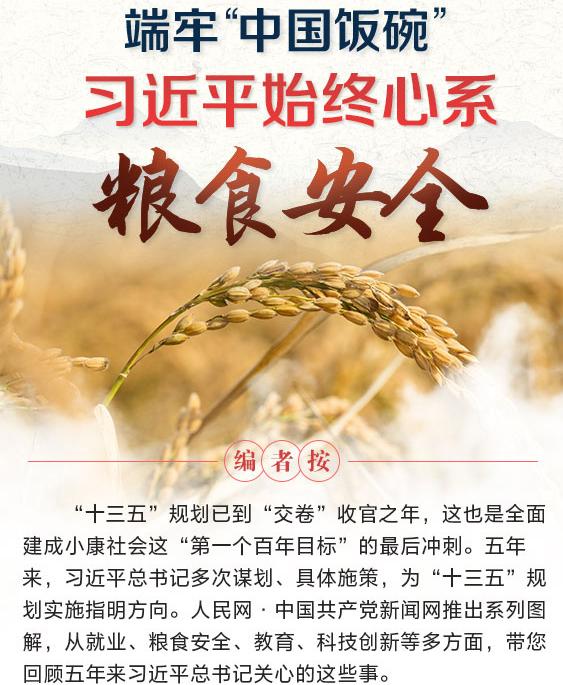 """端牢""""中国饭碗"""" 习近平始终心系粮食安全"""