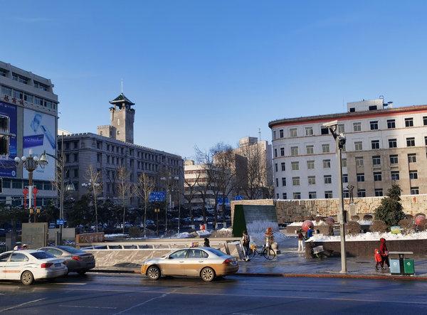 长春人民大街上的这座老塔楼重修了