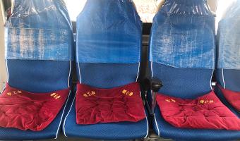 """公交座椅穿上""""暖心垫"""" 长春市民温暖出行"""