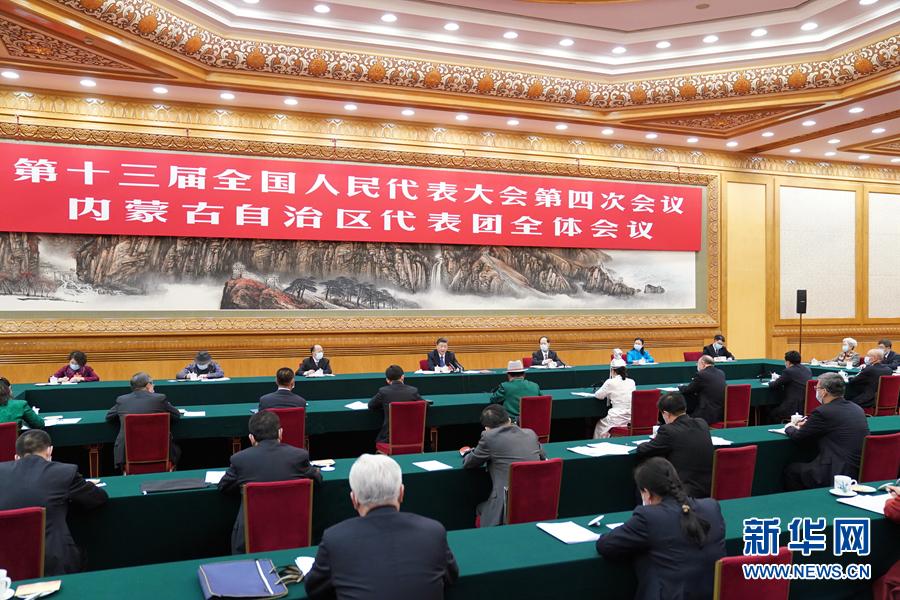 (两会受权发布)习近平参加内蒙古代表团审...